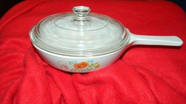 Corning Ware Wildflower P-83-B Saucepan With Glass Lid Free Usa Shipping - $28.04