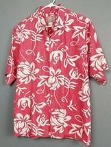 Reyn Spooner L Red Floral Reverse Print Button Front Hawaiian Shirt Classic - $24.97
