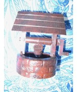 VINTAGE BROWN HARD PLASTIC WELL FROM 1950's WESTERN THEME THEME SET - $5.99