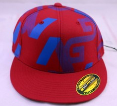 Analog Skate Co Flexfit 210 Fitted 6 7/8 - 7 1/4 Red Hat Cap - $16.79