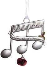 Music Lovers Triplet Notes Christmas Ornament w/Carol Lyrics -It's Beginning - $7.43