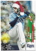 Blake Snell 2020 Topps Holiday Photo Variation SP. Tampa Bay Rays. - $3.00
