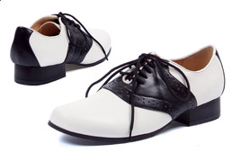 "ELLIE 105-SADDLE 50s COSTUME PUNK DANCE RETRO VINTAGE 1"" HEEL OXFORD FLA... - $29.99"