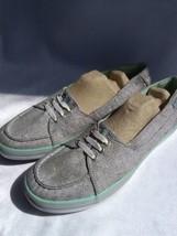 Keds Teacup Metallic & mint green edging Flats Women's lace Up Sneakers ... - $22.28
