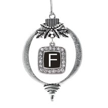 Inspired Silver My Initials - Letter F Classic Holiday Decoration Christmas Tree - $14.69