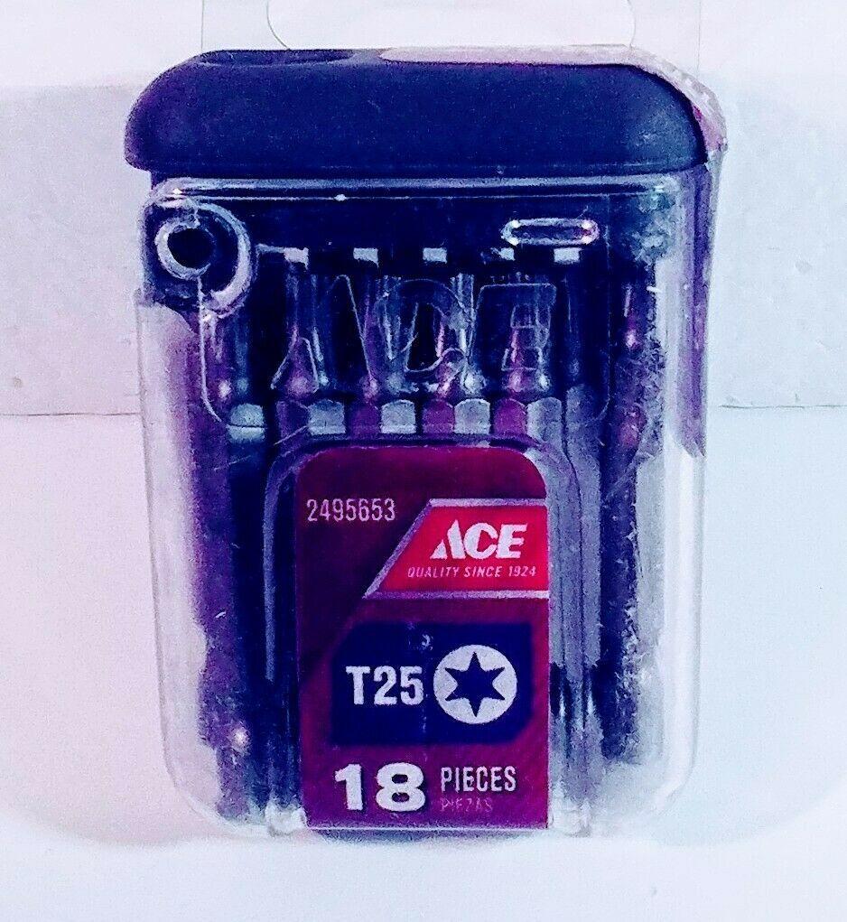 "ACE #2 T25 TORX (18) Insert Bit Set 2495653 (2"") - $11.75"