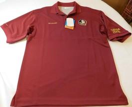 Columbia Sportswear Florida State Seminoles Mens S small maroon polo shirt FSU - $32.06