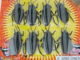 8 pc Fake Cockroaches Roach Bugs Scaring Prank Gross Halloween Trick Joke Prop  image 2