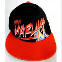 Vintage Miami Marlins New Era Flat Bill Snapback hat Cap Stitched LOGO - $30.00