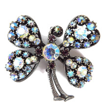 FLORENZA Rhinestone Trembler Brooch Pin - Four Leaf Clover Pin - Vintage... - $50.00