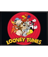 Looney Tunes Group In A Circle Logo Image Refrigerator Magnet NEW UNUSED - $3.99