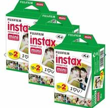 60 Prints Fujifilm Instax Instant Film For Mini 8-9-11 & all Fuji Mini C... - $35.63