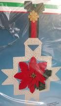 Bucilla 61070 Poinsettia Plastic Canvas Kit Wall Hanging Dick Martin Design - $9.89