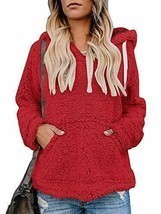 Imily Bela Womens Sherpa Winter Coats Fuzzy Chunky Hooded Fleece Slouchy... - €27,80 EUR