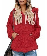 Imily Bela Womens Sherpa Winter Coats Fuzzy Chunky Hooded Fleece Slouchy... - €27,67 EUR
