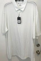 Oxford Golf Super Dry Cool Max Mens XXXL white Short Sleeve Polo Shirt NWT - $22.20