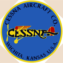 """Cessna Aircraft Co. Plane Airplane Vintage Aviation 14"""" Round Metal Sign - $29.95"""