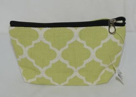 Ganz Style 101 ER32114 Lime Green White Geometric Design Cosmetic Bag image 1