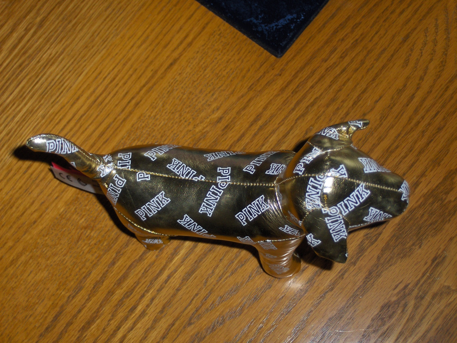 Victoria's Secret PINK Mini Dog Gold Metallic