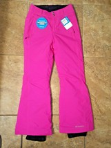 NWT COLUMBIA WOMEN'S WATERPROOF HOT PINK SKI SNOWBOARD SNOW PANTS XS $10... - $74.99