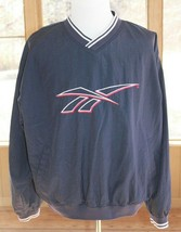 Reebok Size XL Solid Windbreaker Pullover Jacket Embroidered Logo Vintag... - $28.49
