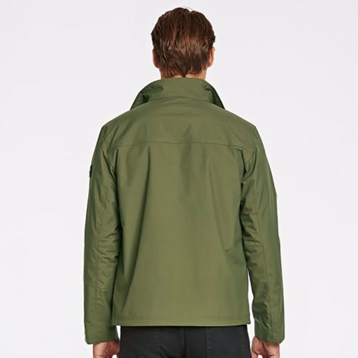 Timberland Men's MT. Crescent Waterproof Olive Night Rain Jacket Style A1RZ5
