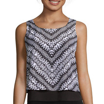 Bisou Bisou Sleeveless Tiered Cropped Top Size L New Msrp $36.00 - $14.99