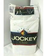 Size 36 Jockey Vtg 3 Pack Classic Men's Brief Tighty Whitey Inverted Y F... - $39.39