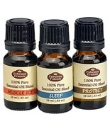 Fabulous Frannie Pure Essential Oil Blend Top 3 Set 10 milliter Bottles ... - $10.78