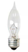 General Electric 40W 4pk CA Long Life Incandescent Chandelier Light Bulb White image 2