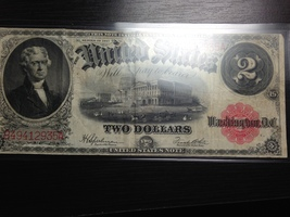 1917 $2.00 bill - $125.00