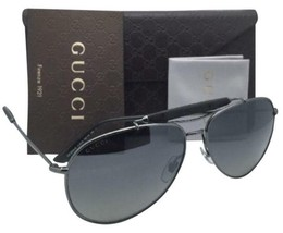 New GUCCI Aviator Sunglasses GG 2235/S KJ1LG Gunmetal Aviator with Grey+Mirror