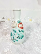 Small Vintage Hand Painted Floral Oriental - Made In China Vase 5 x 2.5""