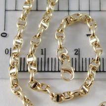 Armband Gelbgold Oder Weiß 750 - 18K, 21 Cm, 3 Mm, Marine Steg, Italien - $268.86