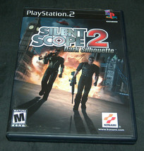 2001 Konami PLAYSTATION 2 PS2 Silent Scope 2 Foncé Silhouette Vidéo Jeu M Vgex - $14.83
