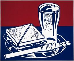 """Roy Lichtenstein """"Sandwich and Soda 1964"""" HD print on canvas wall pictur... - $27.71"""
