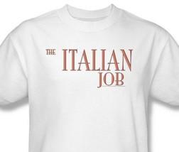 The Italian Job T-shirt 1990's movie retro 100% cotton graphic white tee PAR223 image 1