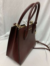 Michael Kors Mercer Medium Pebbled Leather Messenger Bag in OXBLOOD - $96.03