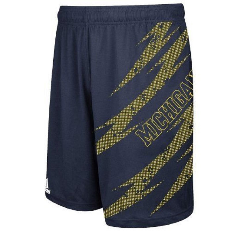 Michigan Wolverines Shorts Men's Adidas Aftershock Athletic Short NEW Licensed
