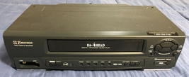 Emerson EWV401B Hi-Fi Stereo 19 Micron 4 Head VHS VCR Player/Recorder No Remote - $35.63