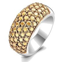 TI SENTO Milano 1546YD Sterling Silver .925 Ring w Gold Plated Pebbles Top - $49.90