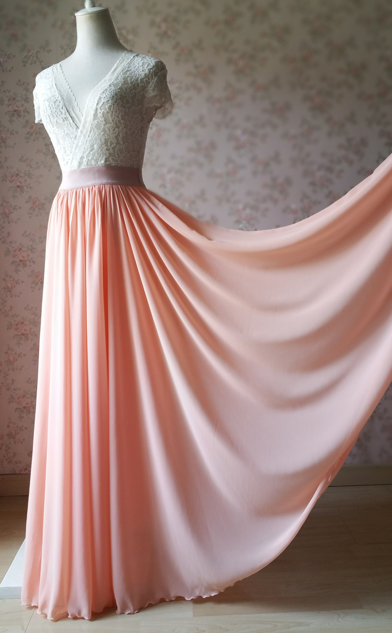Wedding bridesmaid skirt coral 10