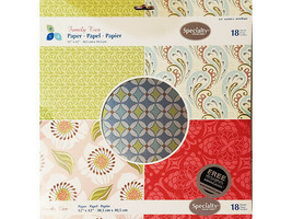Momenta Family Ties 12x12 Specialty Cardstock Paper Pad #004225