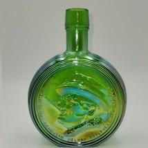 Vintage Large Wheaton Green GLASS Franklin D. Roosevelt decanter - $14.00