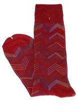 Lord R Colton Men's Red Blue Beige Stripe Dress Socks - $28 Retail - New - $13.49