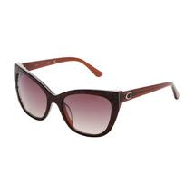 Womens Designer Sunglasses Guess GU7438 Brown Cat Eye UV Protected Polar... - $51.25