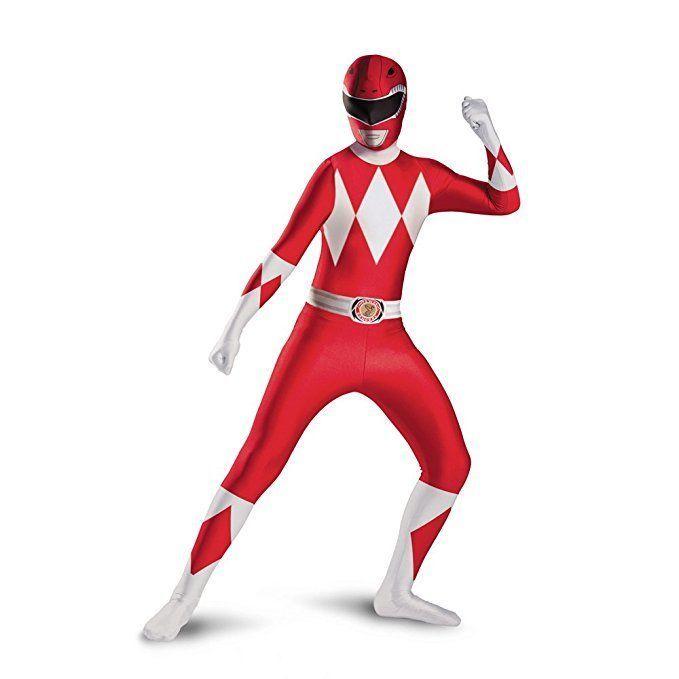 Disguise rosso power rangers cartone animato supereroe da