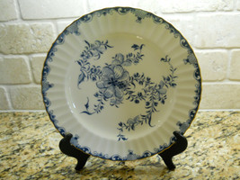 "Royal Worcester Mansfield 6 1/4"" Bread Plate blue white floral - $7.87"