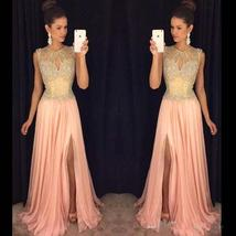 Gorgeous Front-Split Beads A-line Chiffon Sleeveless Prom Dress - $198.00