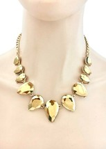 Crystal Dorado Statement Evening Necklace Earrings, Bridal, Pageant, Dra... - $29.40